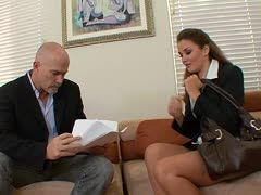 Geiler Office Fick mit Allie Haze und Mark Davis